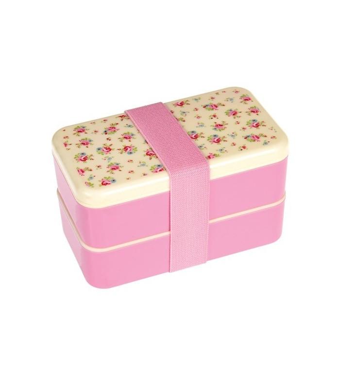bento box grande rosa de flores tatookidsstore.es